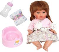 Купить S+S Toys Пупс озвученный цвет одежды розово-бежевый, Куклы и аксессуары