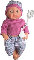 Купить S+S Toys Пупс озвученный цвет одежды розовый серый, Куклы и аксессуары
