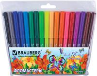 Купить Brauberg Набор фломастеров Wonderful Butterfly 18 цветов, Фломастеры