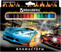Купить Brauberg Набор фломастеров InstaRacing 18 цветов, Фломастеры