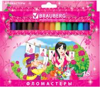 Купить Brauberg Набор фломастеров Rose Angel 18 цветов, Фломастеры