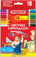 Купить Пифагор Набор цветных карандашей 18 шт, Карандаши