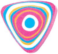 Купить Пифагор Ластик Дельта цвет розовый, Чертежные принадлежности