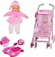 Купить Bambolina Игровой набор с куклой Прогулочная коляска, Куклы и аксессуары