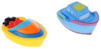 Купить ABtoys Игрушка для ванной Катер-брызгалка цвет желтый голубой 2 шт, Первые игрушки