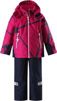 Купить Комплект верхней одежды детский Reima Reimatec Kiddo Grane: куртка, брюки, цвет: розовый, темно-синий. 5231133561. Размер 92, Одежда для девочек