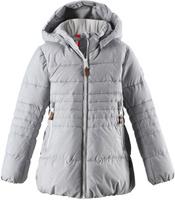 Купить Куртка для девочки Reima Liisa, цвет: серый. 5313039140. Размер 128, Одежда для девочек