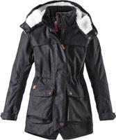 Купить Куртка для девочки Reima Pirkko, цвет: черный. 5312929992. Размер 122, Одежда для девочек