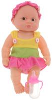 Купить Junfa Toys Пупс озвученный с бутылочкой цвет костюма розовый, Куклы и аксессуары