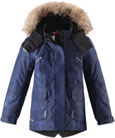 Купить Куртка детская Reima Reimatec Sisarus, цвет: темно-синий. 5313006987. Размер 104, Одежда для девочек
