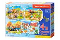 Купить Castorland Пазл для малышей Четыре сезона 4 в 1, Обучение и развитие