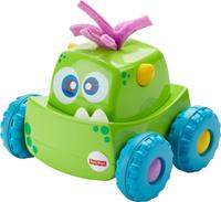 Купить Fisher-Price Развивающая игрушка Инерционный монстрик цвет зеленый, Mattel, Развивающие игрушки