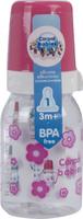 Купить Canpol Babies Бутылочка с силиконовой соской от 3 месяцев цвет розовый 120 мл, Бутылочки