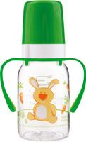 Купить Canpol Babies Бутылочка Зайка с силиконовой соской от 3 месяцев цвет зеленый 120 мл, Бутылочки