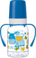 Купить Canpol Babies Бутылочка Ослик с силиконовой соской с ручками от 3 месяцев 120 мл, Бутылочки