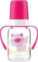 Купить Canpol Babies Бутылочка Котенок с силиконовой соской от 3 месяцев цвет розовый 120 мл, Бутылочки