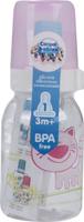 Купить Canpol Babies Бутылочка Котенок с силиконовой соской от 3 месяцев цвет светло-розовый 120 мл, Бутылочки