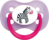 Купить Canpol Babies Пустышка силиконовая круглая Animals от 0 до 6 месяцев цвет розовый, Пустышки