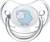 Купить Canpol Babies Пустышка силиконовая круглая Transparent Овечка от 6 до 18 месяцев, Пустышки