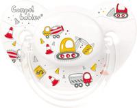 Купить Canpol Babies Пустышка силиконовая ортодонтическая Machines от 6 до 18 месяцев цвет белый, Пустышки