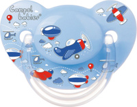 Купить Canpol Babies Пустышка силиконовая ортодонтическая Machines от 18 месяцев цвет голубой, Пустышки