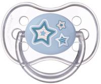 Купить Canpol Babies Пустышка силиконовая круглая Newborn Baby от 0 до 6 месяцев цвет голубой, Пустышки