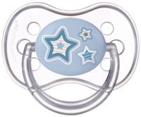 Купить Canpol Babies Пустышка силиконовая круглая Newborn Baby от 6 до 18 месяцев цвет голубой, Пустышки