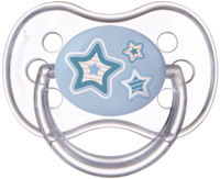 Купить Canpol Babies Пустышка силиконовая Newborn Baby от 6 до 18 месяцев цвет голубой, Пустышки