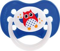 Купить Canpol Babies Пустышка силиконовая симметричная Owl от 0 до 6 месяцев цвет синий, Пустышки