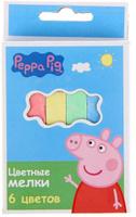 Купить Peppa Pig Мелки 6 цветов 1416856, Мелки и пастель