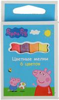 Купить Peppa Pig Мелки 6 цветов, Мелки и пастель