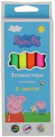 Купить Peppa Pig Набор неоновых фломастеров 6 цветов, Фломастеры
