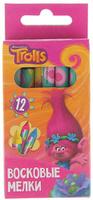 Купить Trolls Мелки восковые 12 цветов, Мелки и пастель