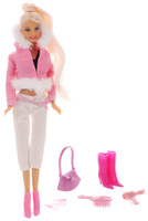 Купить Defa Toys Кукла Lucy Winter Girl с аксессуарами цвет наряда розовый белый, Куклы и аксессуары