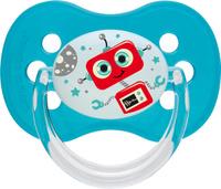 Купить Canpol Babies Пустышка силиконовая круглая Space Mission от 18 месяцев цвет бирюзовый, Пустышки
