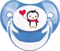 Купить Canpol Babies Пустышка силиконовая ортодонтическая Penguins от 18 месяцев цвет синий, Пустышки