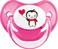 Купить Canpol Babies Пустышка силиконовая ортодонтическая Penguins от 18 месяцев цвет розовый, Пустышки