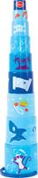 Купить Gowi Набор игрушек для песочницы Ведерко-пирамидка Пират 9 шт, Игрушки для песочницы
