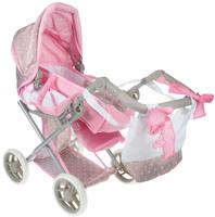 Купить Bambolina Транспорт для кукол Средняя классическая коляска с сумкой, Куклы и аксессуары