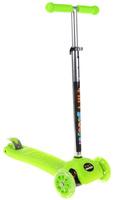 Купить Самокат трехколесный Veld-Co , со светящимися колесами, цвет: зеленый, черный Уцененный товар (№2), Самокаты