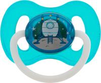 Купить Canpol Babies Пустышка латексная Space от 0 до 6 месяцев цвет бирюзовый, Пустышки