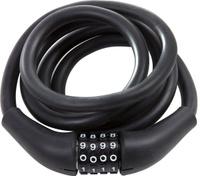 Купить Замок велосипедный STG CLM-866 , кодовый, запоминающий форму трос, цвет: черный, 12 мм х 150 см, Велозамки