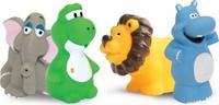 Купить Lubby Набор игрушек для купания Африка от 12 месяцев 4 шт, Первые игрушки