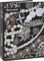 Купить Brauberg Тетрадь Роскошь 120 листов в клетку цвет черный серебристый, Тетради