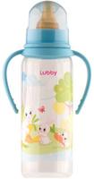 Купить Lubby Бутылочка с латексной соской Веселые животные от 0 месяцев цвет голубой 250 мл, Бутылочки