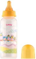 Купить Lubby Бутылочка с латексной соской Веселые животные от 0 месяцев цвет желтый 250 мл, Бутылочки