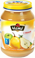 Купить Hame груша фруктовое пюре, 190 г, Пюре