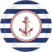 Купить Amscan Тарелка Морская 25 см 8 шт, Сервировка праздничного стола
