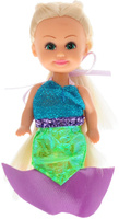 Купить Funville Мини-кукла Волшебная русалочка цвет платья бирюзовый салатовый, Куклы и аксессуары