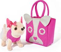 Купить Simba Мягкая игрушка Собачка Чихуахуа с розовой сумкой 20 см, Мягкие игрушки